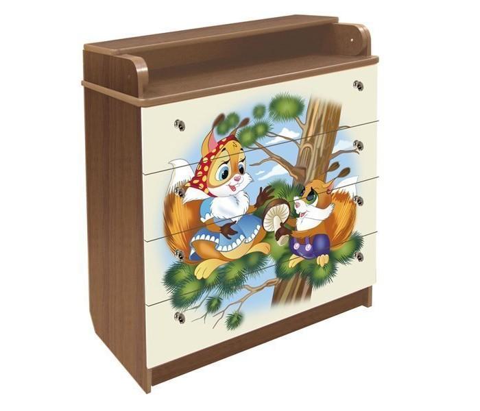 Детская мебель , Комоды Влана Белочка (ДСП) арт: 13742 -  Комоды