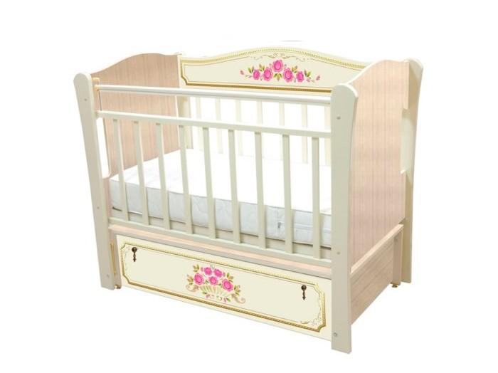 Детские кроватки Влана Розы (продольный маятник) детская кроватка kito amore с продольным маятником