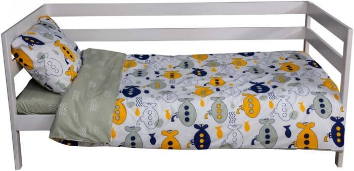 Картинка для Постельное белье 1.5-спальное Вомбатик 1.5 спальное Подводная лодка (3 предмета)