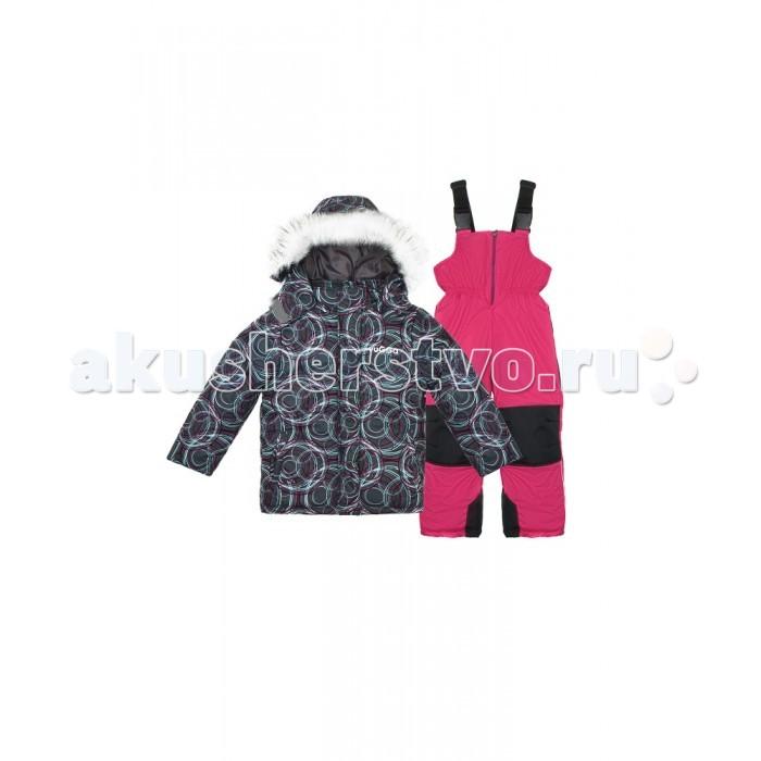Vugga Костюм зимний для девочки ПузыриКостюм зимний для девочки ПузыриVugga Костюм зимний для девочки Пузыри WS-0026 - отличный выбор для зимних игр и прогулок на свежем воздухе. Он прекрасно сохраняет тепло и способен уберечь ребенка от холода даже в сильный мороз.  Особенности: удобный спортивный крой продуманная конструкция яркая привлекательная расцветка костюм состоит из куртки и полукомбинезона на лямках ткань верха - прочный полиэстер - проходит специальную обработку, придающую водоотталкивающие свойства используемые ткани Мембрана/Dewspo утеплитель Shellter отлично сохраняет тепло, позволяя телу дышать, не вызывает аллергических реакций и абсолютно безопасен для здоровья ребенка молния на куртке прикрыта планкой на кнопках на капюшоне отстёгивающаяся опушка, защищающая от снега и ветра плотные трикотажные манжеты с отверстием для пальца в рукавах препятствуют попаданию внутрь снега при активных играх ширина низа куртки регулируется при помощи фиксаторов длина лямок на полукомбинезоне регулируется при помощи фиксаторов брюки с уплотнителем на коленях, задней части и внутренней стороне штанин имеют подвороты, что продлевает срок службы костюма дополнительно в штанинах присутствует ветрозащитная юбка, которая препятствует попаданию снега внутрь светоотражающие элементы на куртке и полукомбинезоне обеспечат безопасность в тёмное время суток все этапы производства сопровождаются строгим контролем качества  Состав: 100% полиэстер, утеплитель: синтепон 400 г/м2. Рекомендации по уходу: стирка при 40°<br>