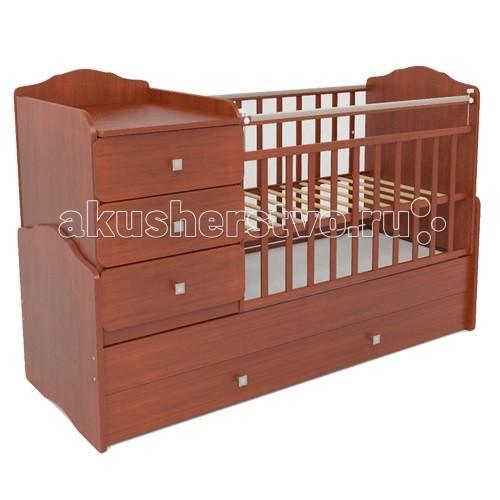 Кроватка-трансформер СКВ Компани СКВ-9 93001СКВ-9 93001Кровать-трансформер СКВ 93001 имеет реечное ложе, которое позволяет матрасу дышать.  увеличивается до размеров 170*60 см - относится к самым длинным подростковым кроватям в ряду кроватей-трансформеров для самых маленьких: кроватка с размерами ложа 120*60 см, 2 уровня подматрасника реечное ложе позволяет матрасу дышать и легко проветриваться у комода на кроватке есть ограничительные бортики, что позволяет удобно использовать его как пеленальный комод удобные выдвижные ящики для детского белья и игрушек (1 большой и 1 поменьше) для кроватки разработан специальный комплект матрасов (120*60 см + 50*60 см для детского и подросткового варианта) для малышей постарше кроватка превращается в кровать-диванчик с дополнительным низким защитным ограждением: малыш надежно защищен ночью  Такая кровать долго и с пользой прослужит Вашему ребенку Материал: береза + безопасное ДСП<br>