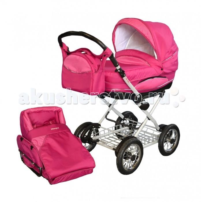 Коляска Wampol Verona Alu 2 в 1Verona Alu 2 в 1Универсальная коляска Wampol Verona - это элегантная классическая коляска для новорожденных, в которой малыш будет себя чувствовать защищено и комфортно. Облегченное алюминиевое шасси.  Модель практична и многофункциональна. Коляска имеет большой складной верх, накидку от ветра и вместительную багажную металлическую сетку. Прогулочный блок для детей до трех лет устанавливается отдельно. Вместительная и комфортная люлька оборудована регулируемым наклоном спинки и может использоваться как качалка. Ее наличие позволяет использовать коляску с первых дней жизни ребенка.  Коляска обтянута водоотталкивающим материалом.  А простые в эксплуатации и надежные крепления не доставят Вам проблем при многократных изменениях конструкции. Коляска компактно складывается книжкой.  Особенности: возможность переменить положение направляющей по отношению к направлению езды регулировка высоты положения направляющей во время раскладывания коляски блокировка конструкции самозащелкивается 4-степенная регулировка положения спинки сидения складной капюшон два поручня в полном составе для глубокого зимнего (большие с защитном фартуком) и прогулочного (маленькое безопасности) вариантов сидение с пятиточечным ремнем безопасности автоматическая блокировка механизма регулировки подножка.<br>