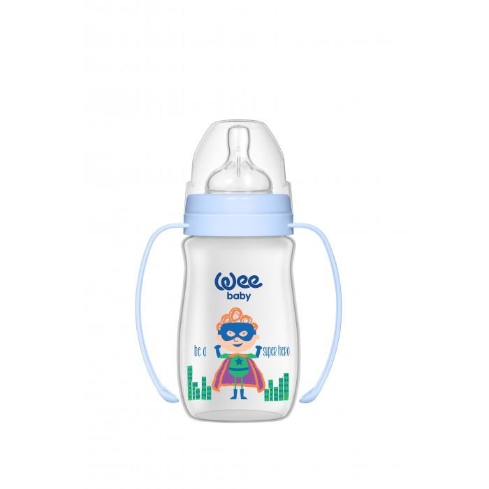Купить Бутылочки, Бутылочка WeeBaby с широким горлышком и ручками Classic Plus Супермен 250 мл