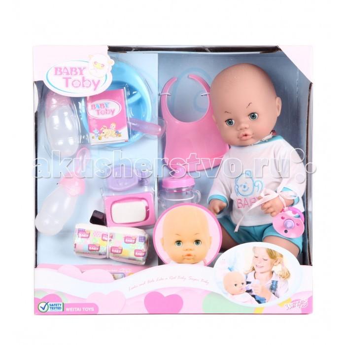 Wei Tai Toys Кукла-пупс в наборе с аксессуарами 39 см на батарейкахКукла-пупс в наборе с аксессуарами 39 см на батарейкахWei Tai Toys Кукла-пупс в наборе с аксессуарами 39 см на батарейках wttT321  Эта очаровательная кукла приведет в восторг любую малышку! Ваша малышка больше не будет скучать, ведь вместе с этой куклой она сможет придумать множество увлекательных развлечений.  Высота куклы: 39 см<br>