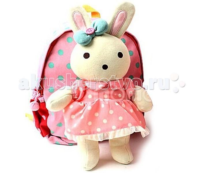 Winghouse Рюкзак детский с игрушкой и поводком Заинька
