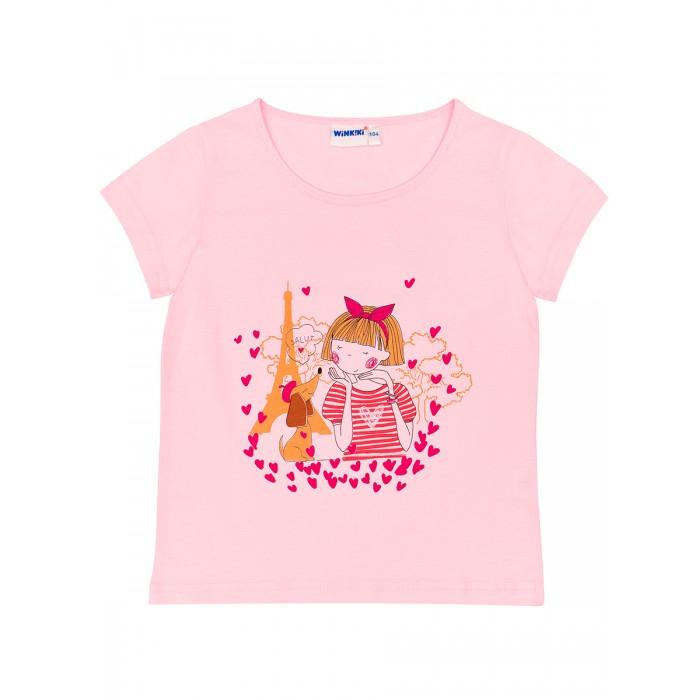 Картинка для Футболки и топы Winkiki Футболка для девочки Девочка с собачкой