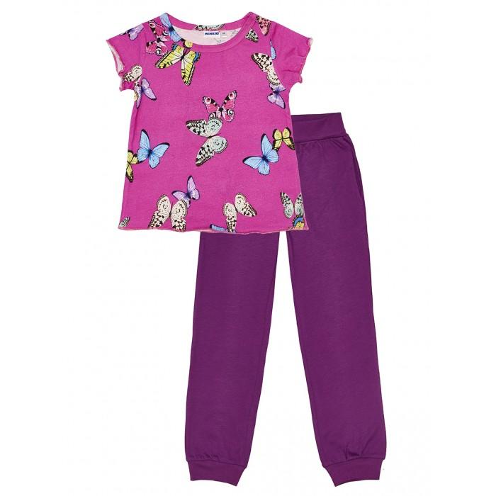 Купить Домашняя одежда, Winkiki Пижама для девочки (футболка, брюки) WKG91167
