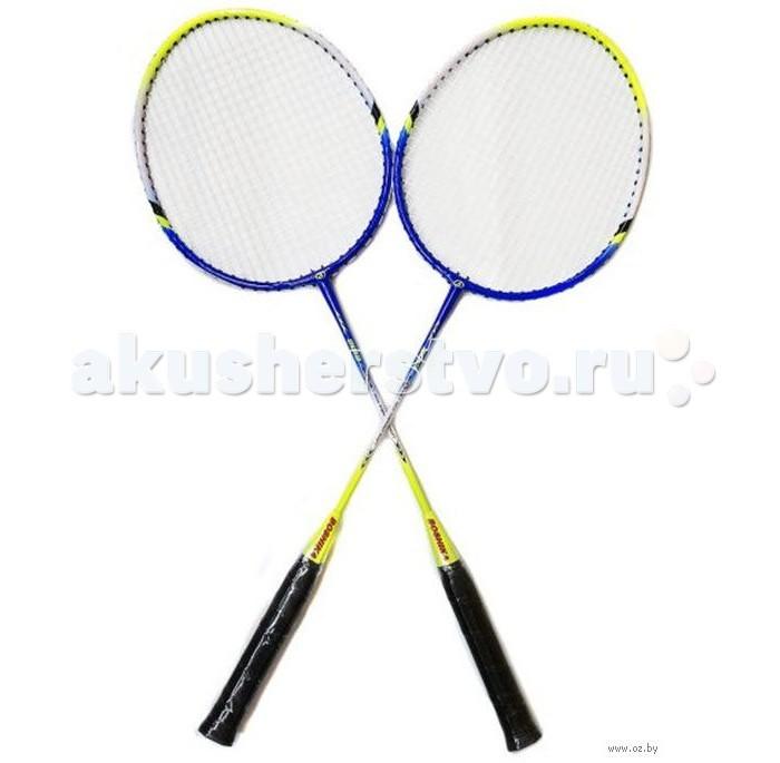Спортивный инвентарь X-Match Набор ракеток для бадминтона с чехлом на молнии набор для бадминтона wish fusiontec 799k цвет синий