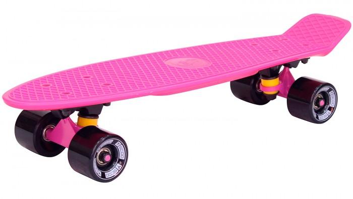 Y-Scoo Скейтборд Fishskateboard 22Скейтборд Fishskateboard 22Y-Scoo Скейтборд Fishskateboard 22 с сумкой - уникальное средство передвижения по городу и отличный способ заявить о себе в скейтпарке.  Особенности: Сочетает в себе компактность, комфорт, отличную управляемость и является отличным способом времяпровождения для людей всех возрастов. Дека сделана из высокопрочного, гибкого винилового пластика и имеет рисунок в виде сот на рифленой поверхности. Это обеспечивает повышенную устойчивость и безопасность во время катания на скейтборде, такой рисунок не даст ногам райдера соскальзывать во время катания.  Такая доска универсальна и подойдет для любого стиля катания.  Тип - скейтборд с конкейвом. Конкейв (concave)- загнутость доски по всей её длине по бокам, а также угол подъёма носа и хвоста. Чем глубже конкейв, тем лучше чувствуется доска во время трюков, легче закручивается и легче приземляться. Чем короче хвост (или нос) и чем больше у него угол подъёма, тем выше получается ollie, чем длиннее, тем легче делать nose и tailslide.  Длина деки: 57 см, ширина: 15 см.  Высокопрочная подвеска из алюминиевого сплава покрытая высокотехнологичной краской - 8 см.  Двойной концевой загиб Double Kick.  Амортизаторы жесткостью 82А.  Подшипник ABEC 7 Chrome. Никелированные болты.  Колёса полиуретановые: PU - Super High Rebound колеса 60х45 мм, жесткость 82А. Очень важно в колесах: чем больше жесткость, тем больше скорость. Монтажные болты, покрытые специальной краской, гайки с супермягкими прокладками.  Небольшой вес скейтборда (всего 1,8 кг) делают его маневренным и легким в транспортировке. Е Максимальная нагрузка 100 кг. Размер: 56,6х15 см<br>