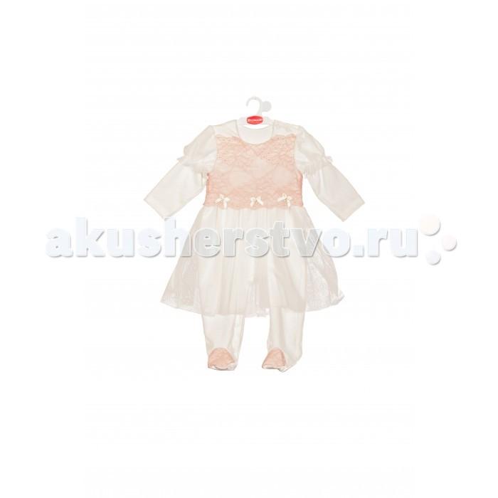 Детская одежда , Детские платья и сарафаны ЯБольшой Комбинезон-платье Пастила 64-328-01 арт: 357520 -  Детские платья и сарафаны