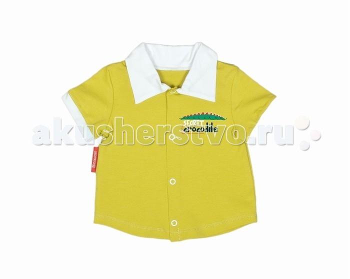 Блузки и рубашки ЯБольшой Рубашка для мальчика Кроколандия