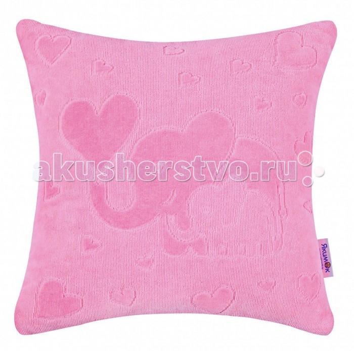 Постельные принадлежности , Подушки для малыша Якимок Детская декоративная подушка из велюрового хлопка 35х35 арт: 365127 -  Подушки для малыша