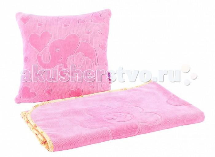 Постельные принадлежности , Комплекты в кроватку Якимок Плед и подушка арт: 386724 -  Комплекты в кроватку