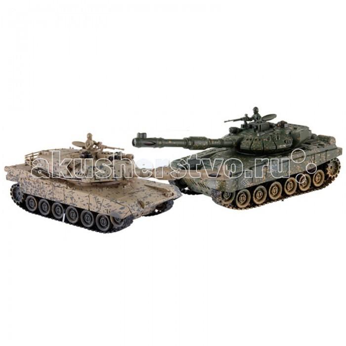 Машины Yako Танковый бой 1:24 М1А2 Абрамс против Тигра радиоуправляемые игрушки танковый бой р у 1 24 т34 против тигра