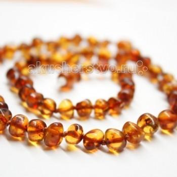 Прорезыватель Yanru Янтарное ожерелье 44 см