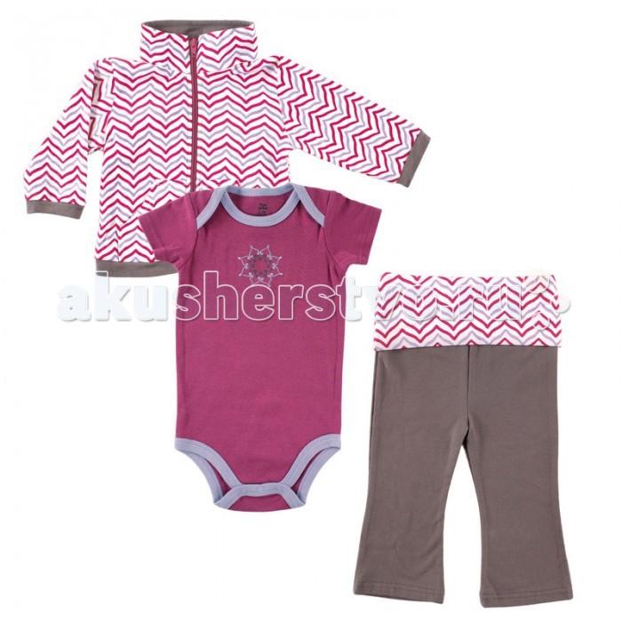 Комплекты детской одежды Yoga Sprout Комплект Жакет, боди, штанишки 90144 yoga sprout 90060 90080 3 6
