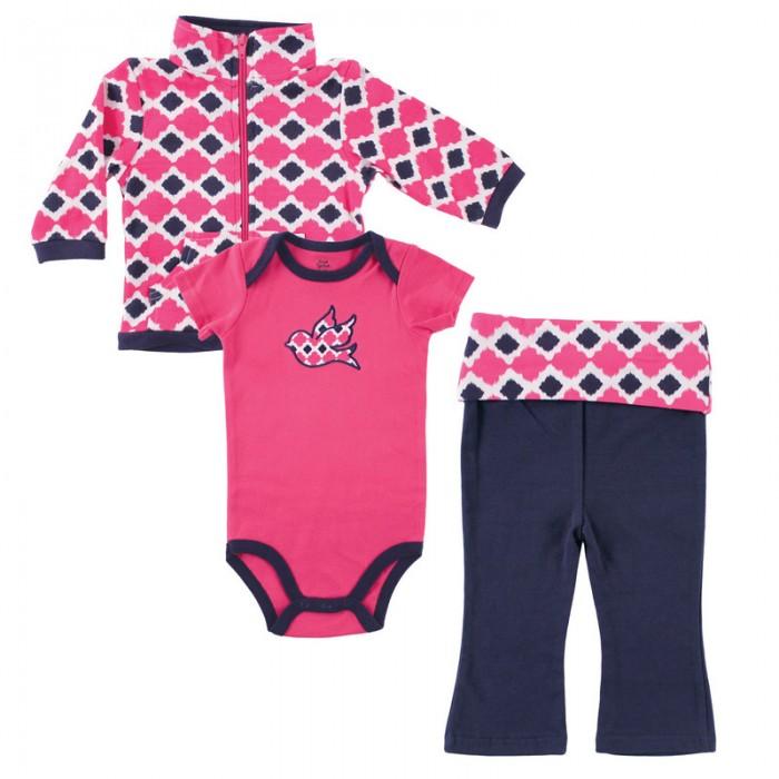 Комплекты детской одежды Yoga Sprout Комплект Жакет, боди, штанишки 90167 yoga sprout 90060 90080 3 6