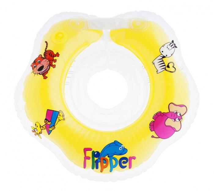 Круги для купания ROXY Flipper на шею для новорожденных круг на шею для купания roxy kids flipper цвет голубой
