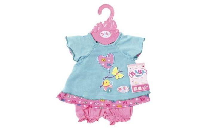 Куклы и одежда для кукол Zapf Creation Одежда для куклы Baby born Туника с шортиками