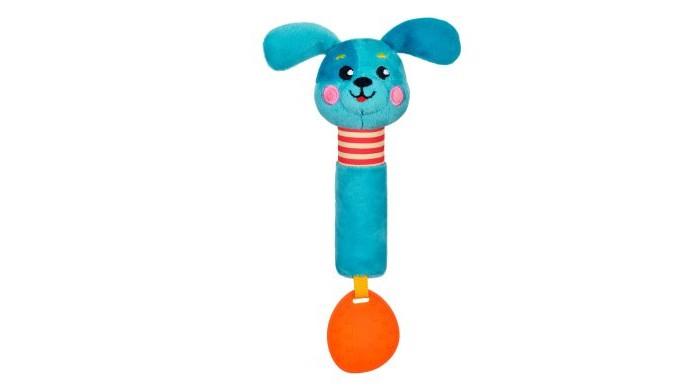 Прорезыватели Жирафики Пищалка с силиконовым прорезывателем Щенок жирафики развивающая игрушка мишка с силиконовым прорезывателем