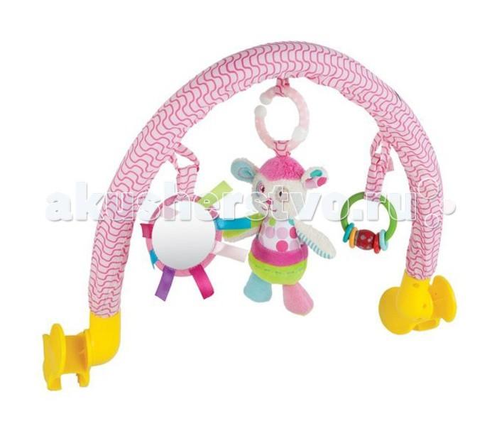 Дуги для колясок и автокресел Жирафики Дуга с погремушкой зеркальцем и мягкой игрушкой, Дуги для колясок и автокресел - артикул:297388