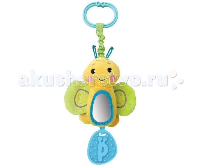 Погремушки Жирафики Подвеска Бабочка с зеркальцем и звуком жирафики развивающая игрушка подвеска бабочка муз