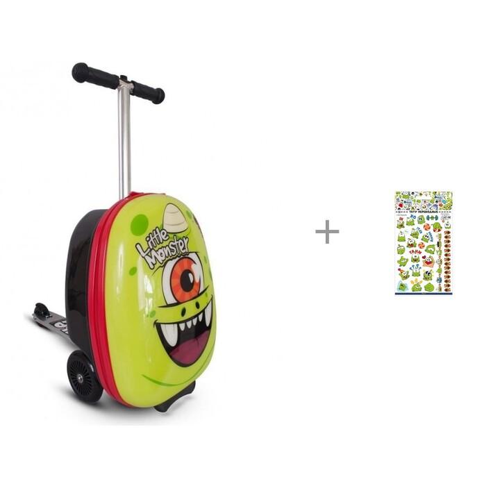 Купить Трехколесные самокаты, Трехколесный самокат Zinc с чемоданом Monster и Наклейки-тату переводные PrioritY Ам Ням - 2