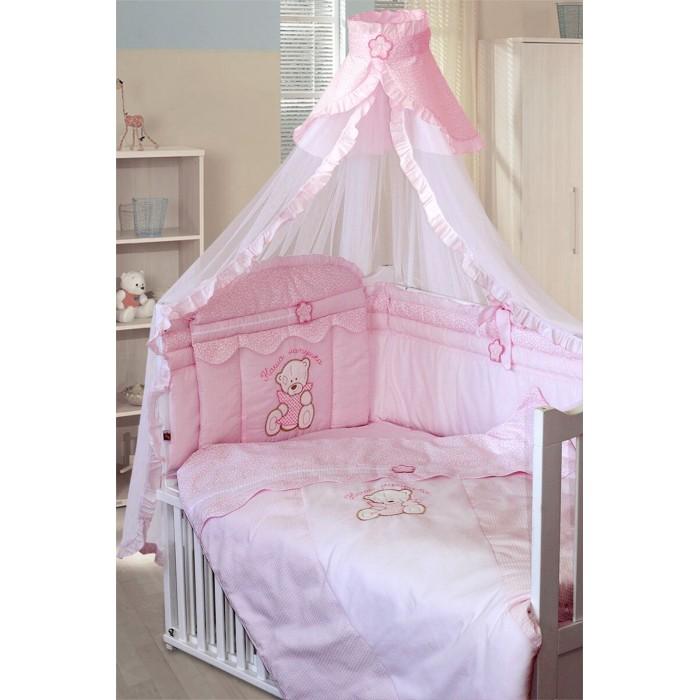 Комплекты в кроватку Золотой Гусь Сабина (7 предметов) комплект постельного белья золотой гусь сабина 7 предметов 100% хлопок розовый