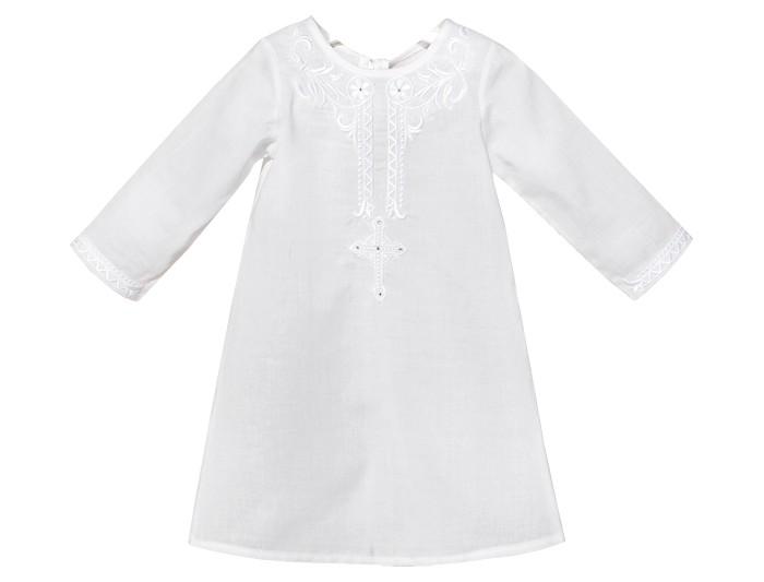 крестильная одежда Крестильная одежда Золотой Гусь Крестильная рубашка модель 1 с вышивкой