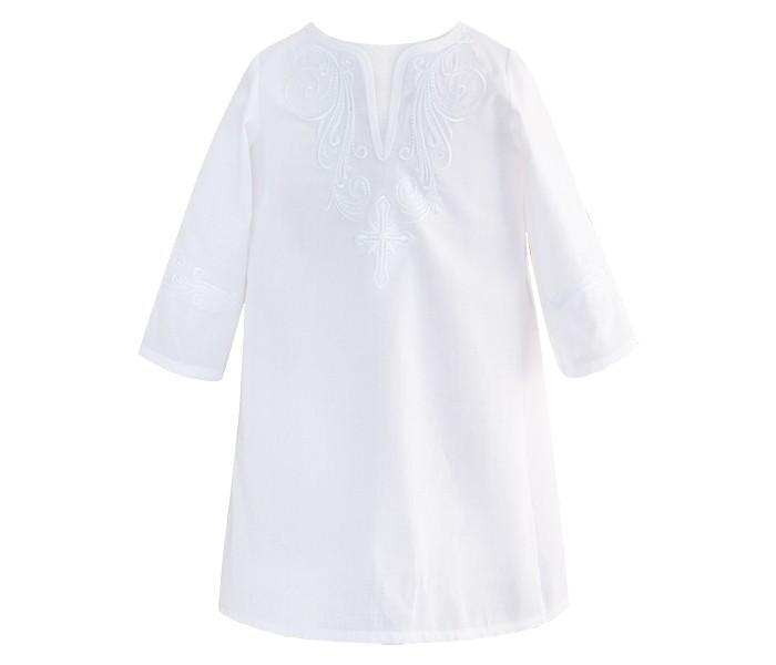 крестильная одежда Крестильная одежда Золотой Гусь Крестильная рубашка модель 2 с вышивкой