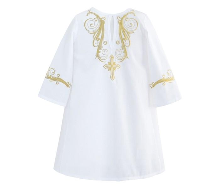Картинка для Золотой Гусь Крестильная рубашка модель 2 с вышивкой