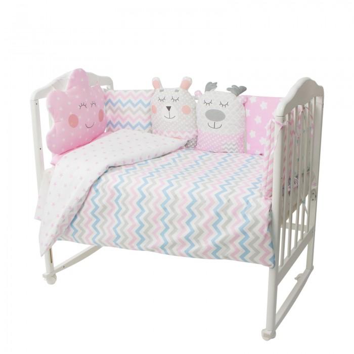 Купить Комплекты в кроватку, Комплект в кроватку Золотой Гусь Зефирка (16 предметов)