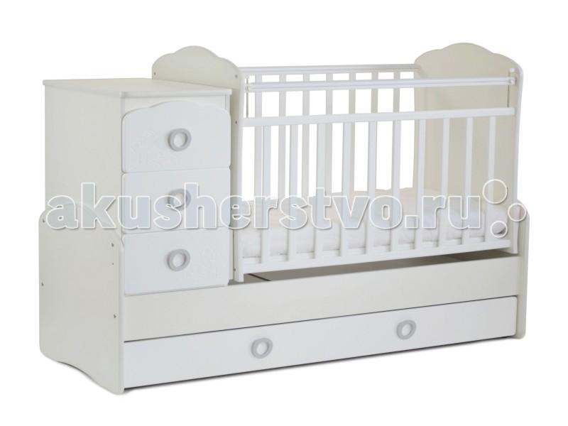 Кроватки-трансформеры СКВ Компани СКВ-9 Птички маятник поперечный кроватка трансформер скв компани скв 5 55000x жираф белая бежевая
