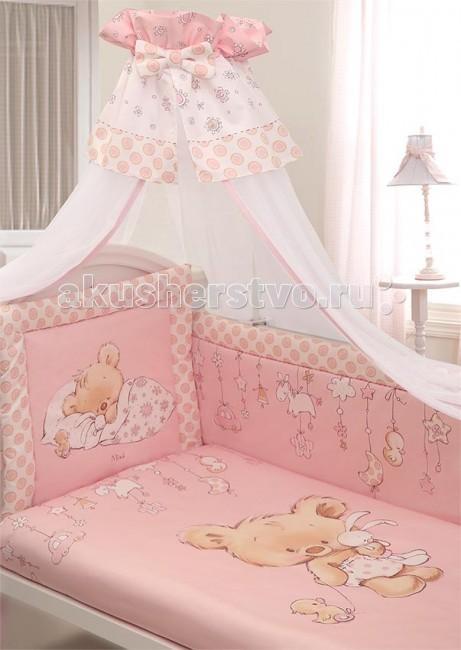 Комплект в кроватку Золотой Гусь Mika сатин (7 предметов) фото