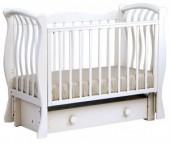 Детская кроватка Кубаньлесстрой БИ 07.3 Ландыш продольный маятник