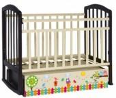 Детская кроватка Антел Алита 4 Поющие Совята (маятник поперечный)