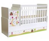 Кроватка-трансформер Фея 1100 Пряничный домик