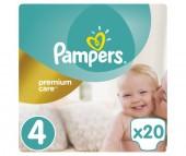 Pampers Подгузники Premium Care р.4 (8-14 кг) 20 шт.
