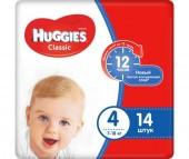 Huggies Подгузники Classic 4 (7-18 кг) 14 шт.