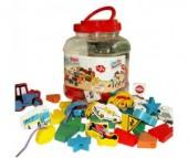 Деревянная игрушка QiQu Wooden Toy Factory Шнуровка Машинки
