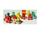 QiQu Wooden Toy Factory Паровозик Цифры