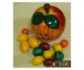 Деревянная игрушка Русская народная игрушка (РНИ) Счетный материал В яблоке