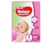 Huggies Подгузники Ultra Comfort Mega для девочек 3 (5-9 кг) 80 шт.