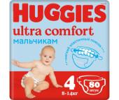 Huggies Подгузники Ultra Comfort Giga Pack для мальчиков 4 (8-14 кг) 80 шт.