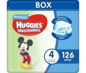 Huggies Подгузники Ultra Comfort Disney Box для мальчиков 4 (8-14 кг) 126 шт.