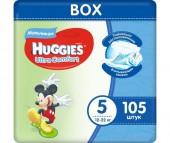 Huggies Подгузники Ultra Comfort DISNEY Box для мальчиков 5 (12-22 кг) 105 шт.
