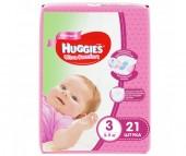 Huggies Подгузники Ultra Comfort Conv Pack для девочек 3 (5-9 кг) 21 шт.