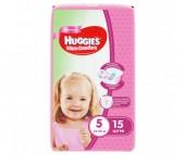 Huggies Подгузники Ultra Comfort Conv Pack для девочек 5 (12-22 кг) 15 шт.