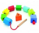 Деревянная игрушка Мир деревянных игрушек (МДИ) Бусы Геометрия