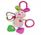 Подвесная игрушка Жирафики Кролик с зеркалом
